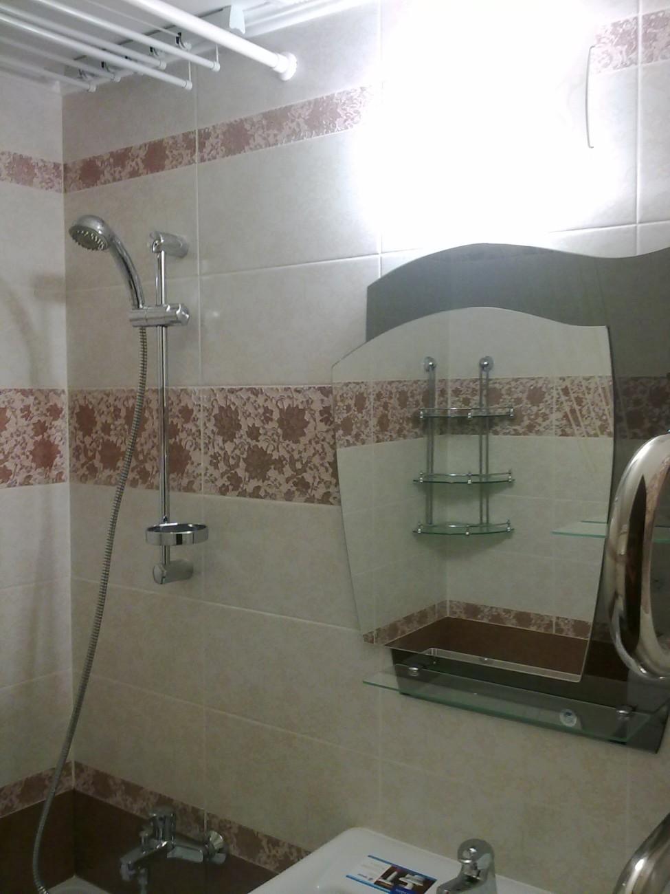 Ремонт в ванной  установка ванной 58